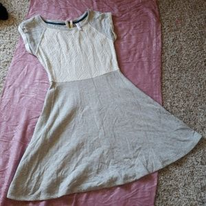 Grey and cream skater style dress